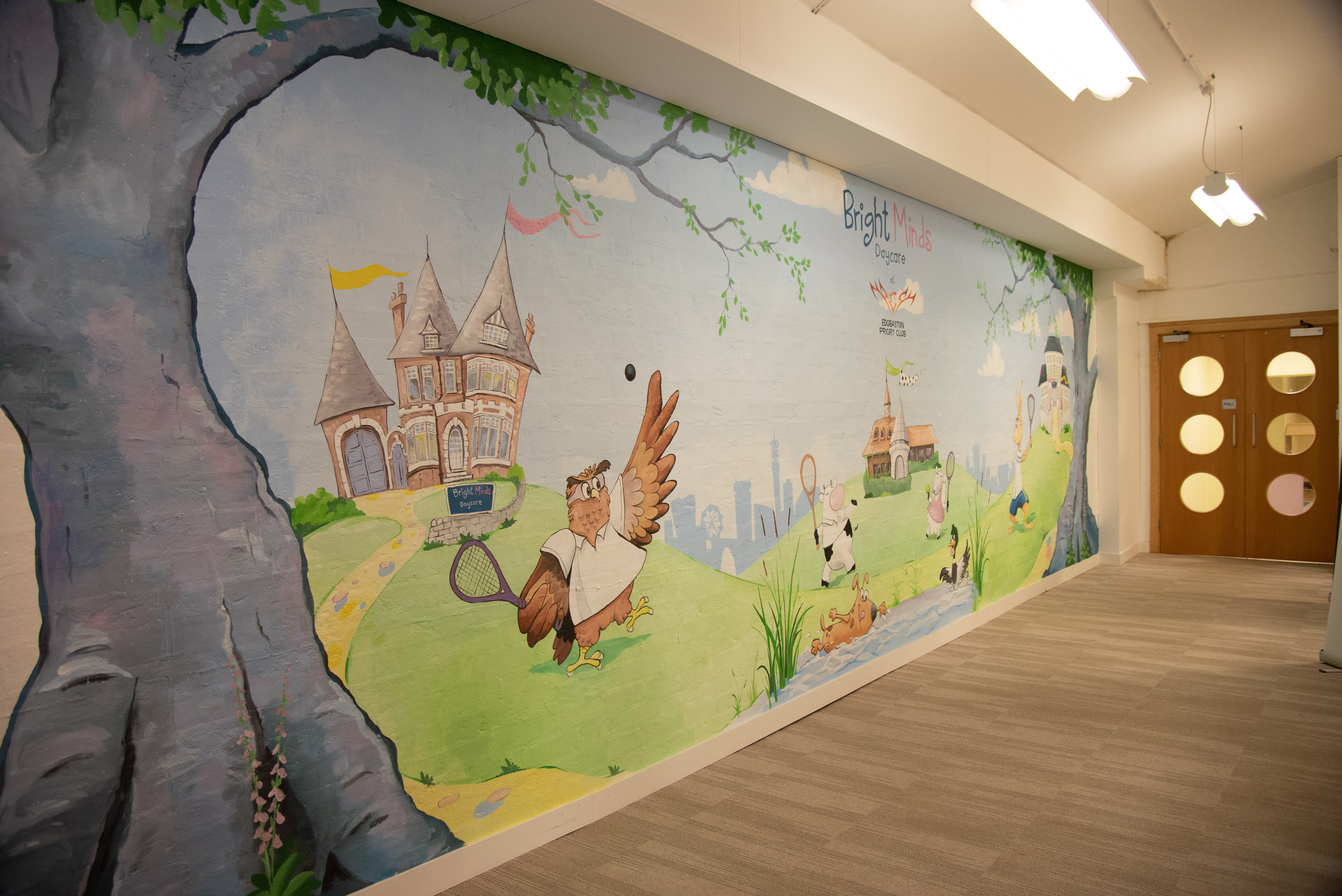 Bright Minds Wall Mural Entrance